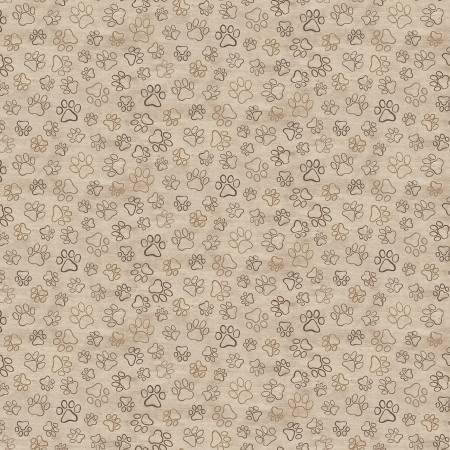 Brown Pawprints DOG-C8556-NATURAL