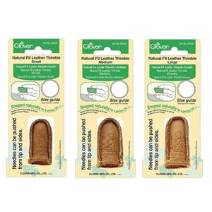 Natural Fit Leather Thimble S