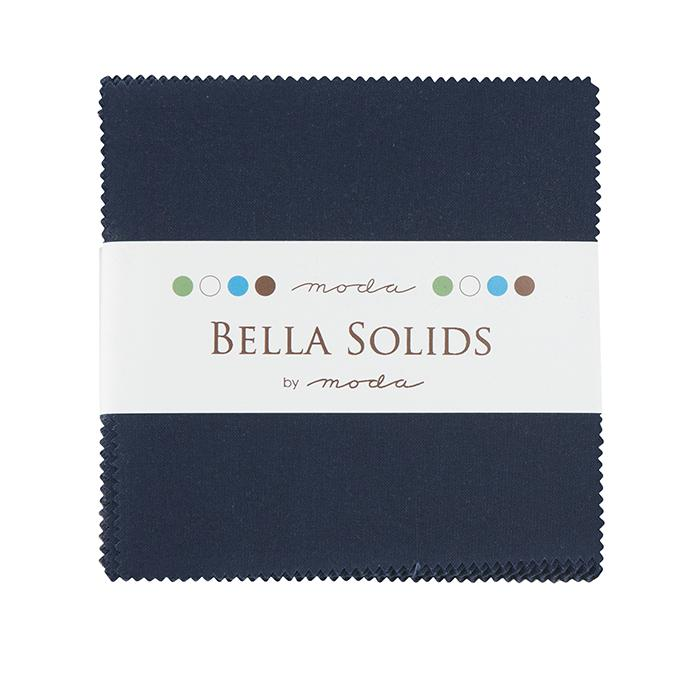 9900PP 20 Bella Solids Charm Pack - Navy