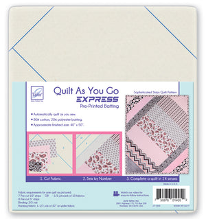 Quilt As You Go EXPRESS- Sophisticated Strips