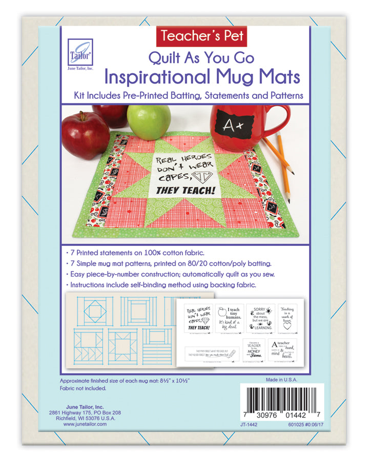 QAYG Inspirational Mug Mats -- Teacher' Pet