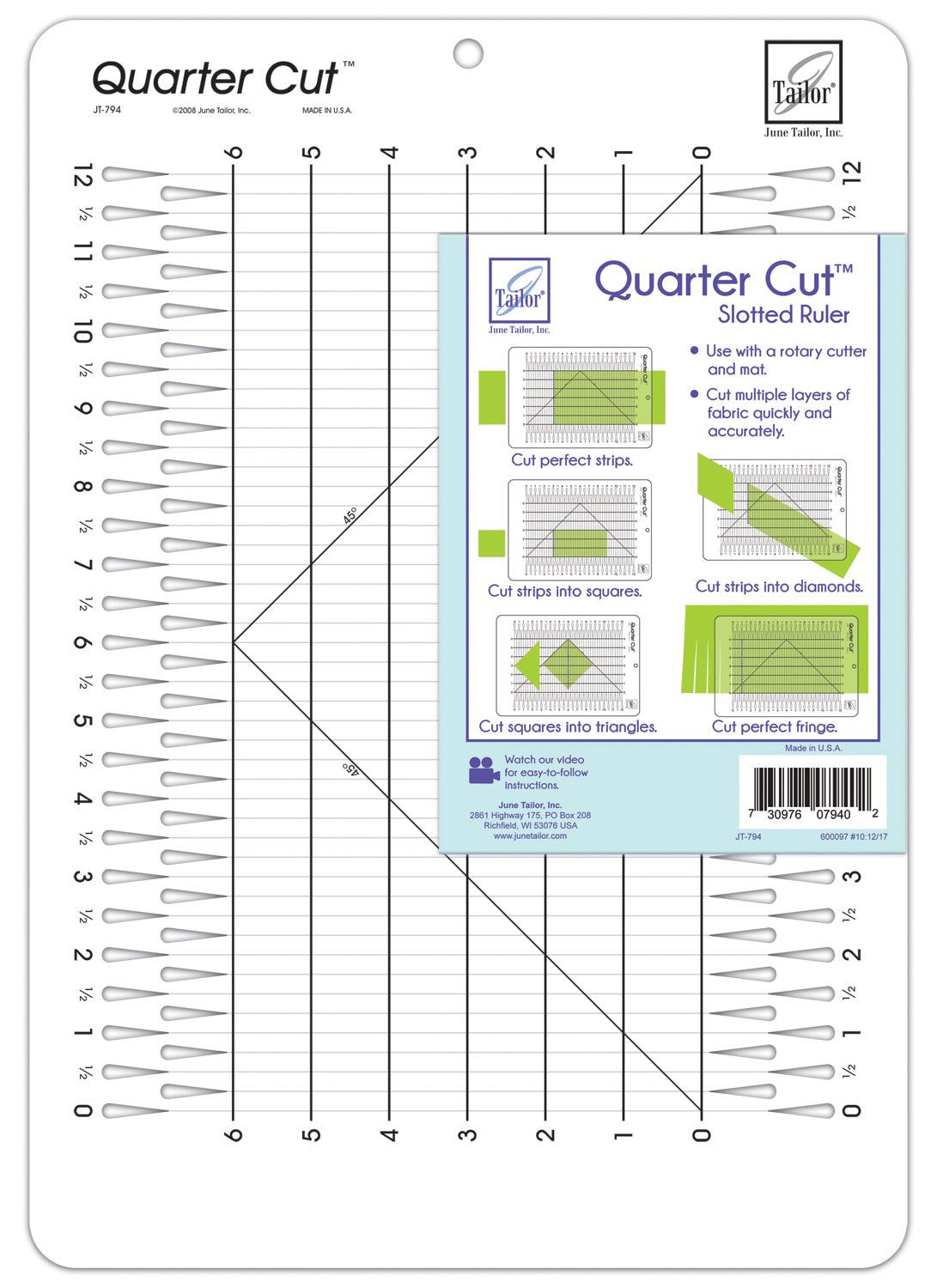 Quarter Cut™ Ruler