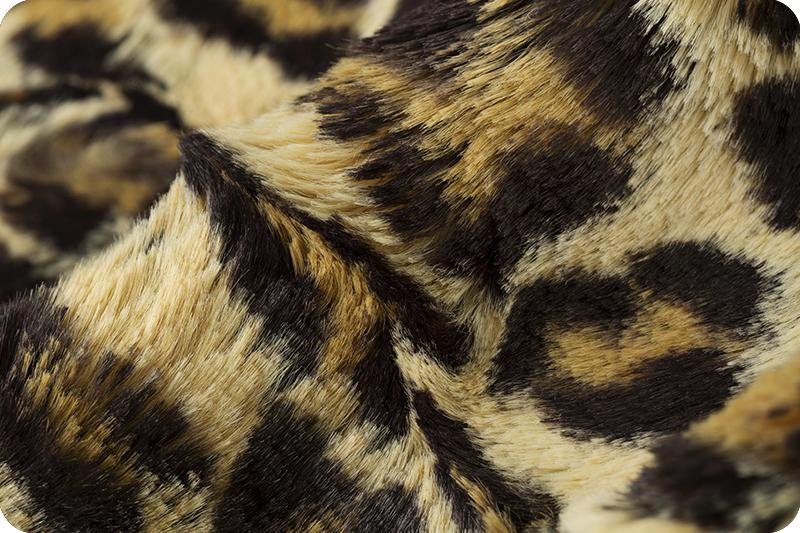 Luxe Cuddle Leopard/Sand - 2 Yard Length