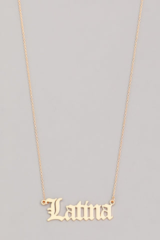 Latina Necklace - Fem Urbano