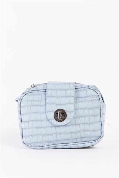 Baby Blue Alligator Crossbody Bag
