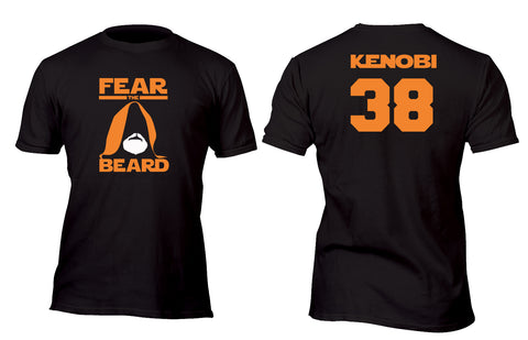 Fear The Beard Kenobi Custom Movie T-Shirt