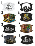 Character Movie Potter Hogwarts Custom Photo Face Mask with 2 Filters * Adjustable *Washable * Free Shipping * Best Value