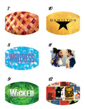 Broadway Inspired Musical Theater Custom Photo Face Mask with 2 Filters * Adjustable *Washable * Free Shipping * Best Value