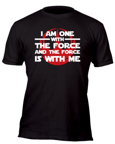 I am One With the Force Rebel Team Red Custom Movie T-Shirt