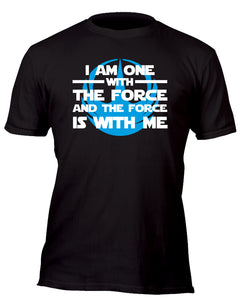 I am One With the Force Rebel Team Blue Custom Movie T-Shirt