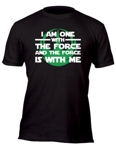 I am One With the Force Rebel Team Green Custom Movie T-Shirt