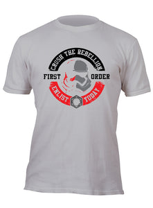Crush the Rebellion Enlist Today First Order Stormtrooper Red/ Silver Custom Movie T-Shirt