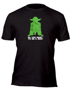 Yoda So You Want To Be A Jedi Silhouette Custom Movie T-Shirt