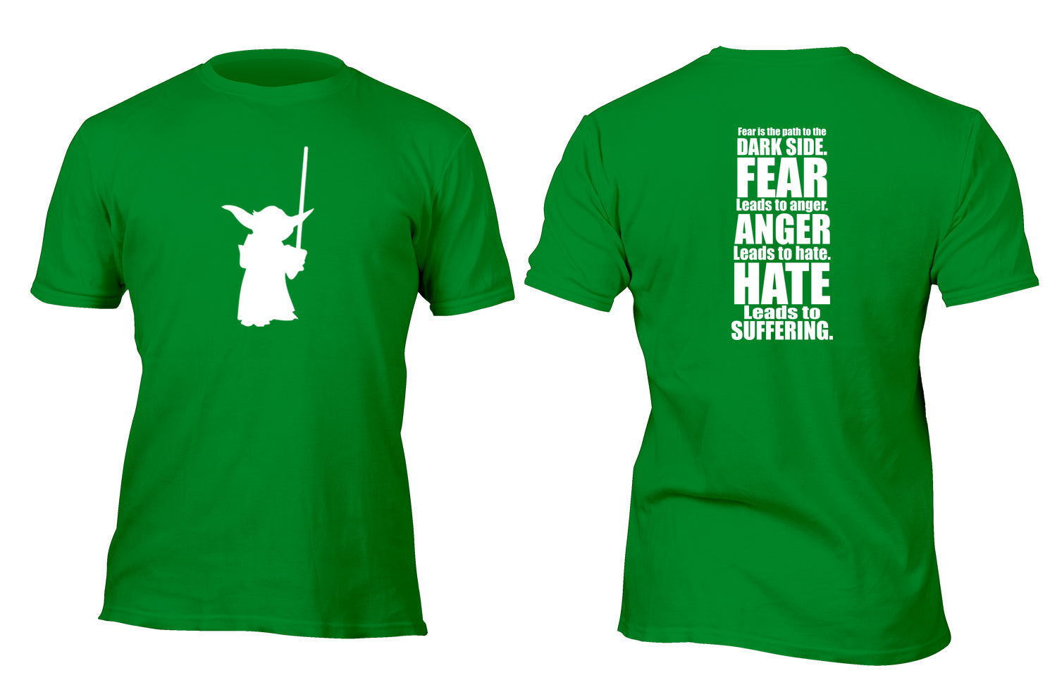 Yoda Fear is the Path to the Darkside Custom Movie T-Shirt