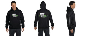 Limited Unisex Extra Mile Podcast Pullover Training Marathon Black Hoodie (Men's Cut)