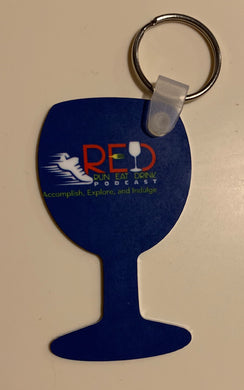 Official RED Podcast Wine Glass Shape Aluminum Key Tag