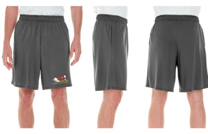 Limited Unisex RED Podcast Race Performance Marathon Charcoal Gray Shorts (Men's Cut)