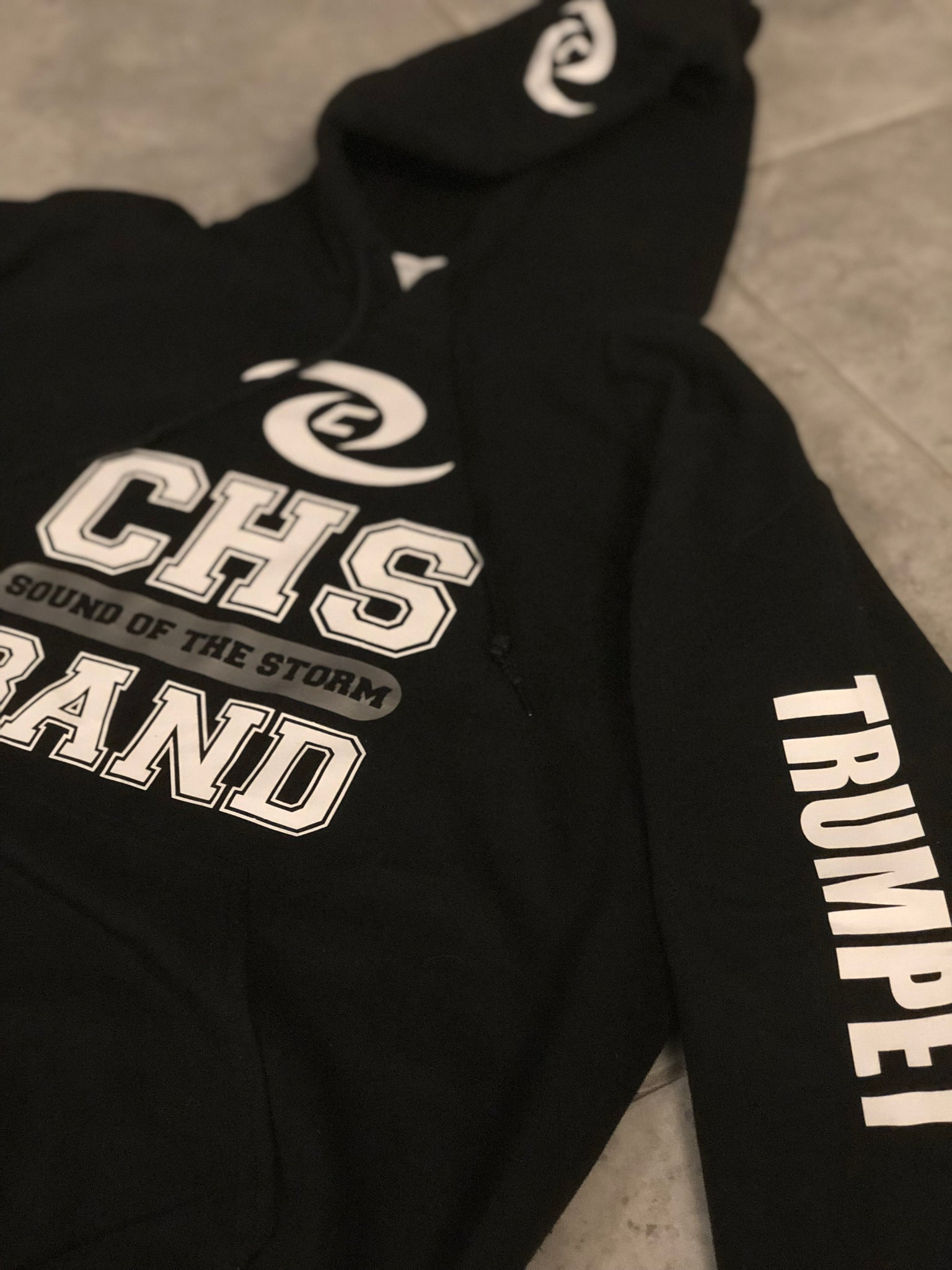 Personalized Black CHS Sound of the Storm Band Hoodie