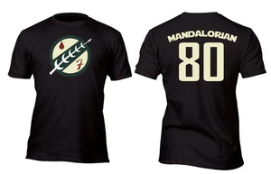 Mandalorian Fett 80 Baseball Style Jersey Custom Movie T-Shirt