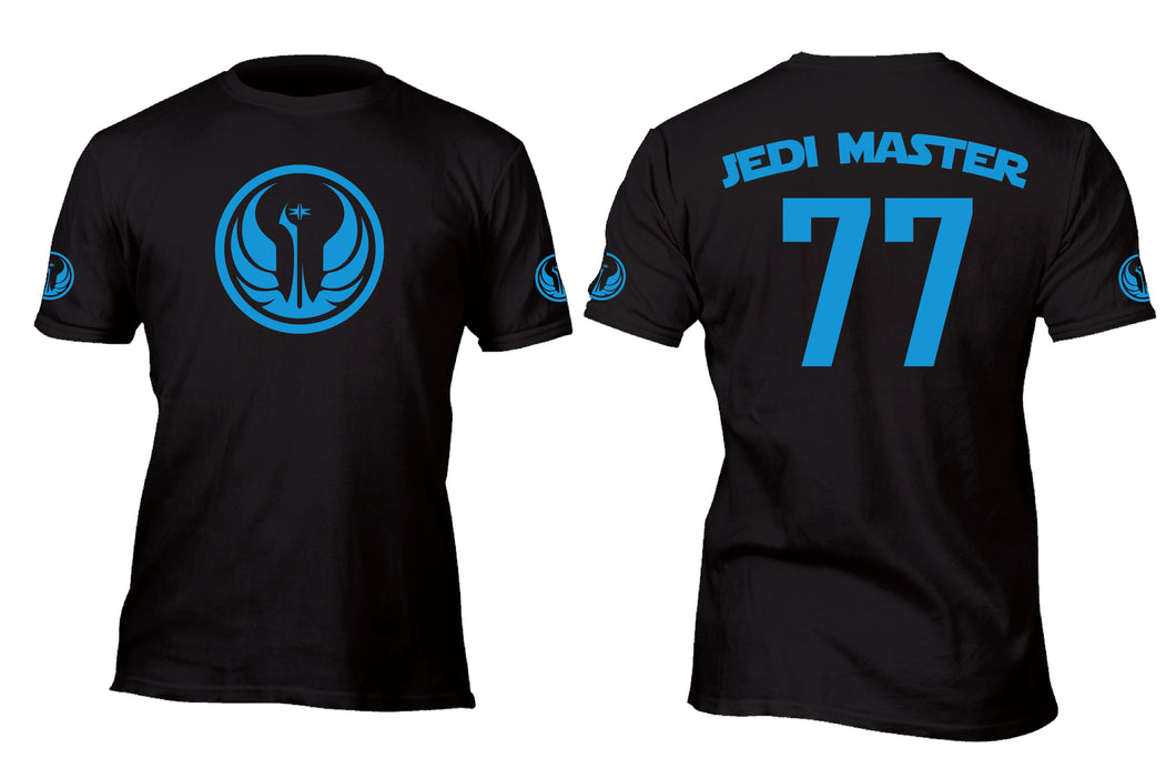 Jedi Master 77  Baseball Style Jersey Custom Movie T-Shirt