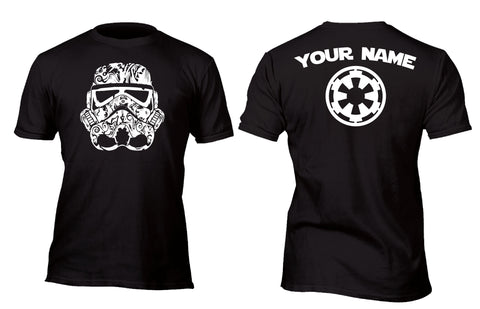 Personalized Sugar Skull Stormtrooper Custom Movie T-Shirt
