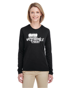 Women's Extra Mile Performance Marathon Black Long Sleeve Shirt