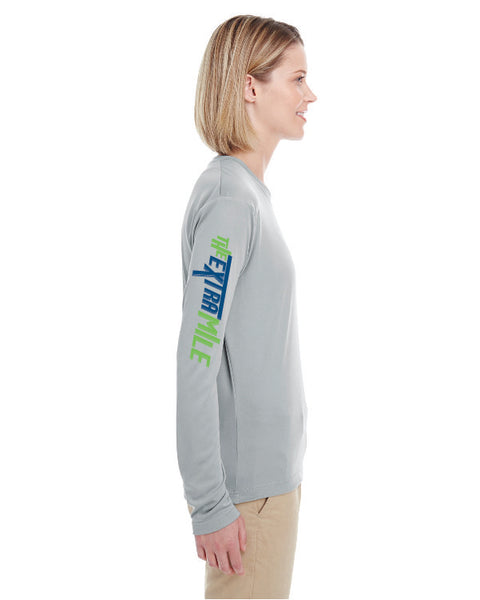 Women's Extra Mile Performance Marathon Silver Long Sleeve Shirt