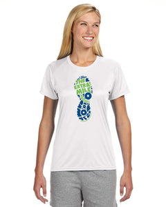 Women's Extra Mile Performance Marathon White Short Sleeve Shirt