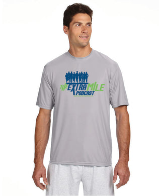 Men's Extra Mile Performance Marathon Silver Short Sleeve Shirt