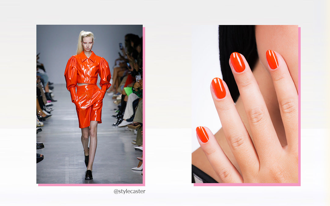 2020 Trends - Colourful Leather x Matching Nails