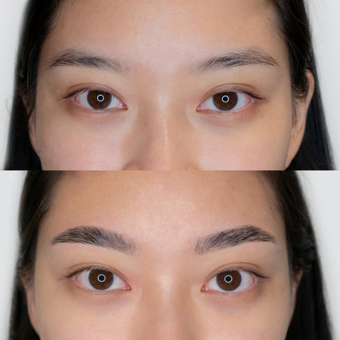 Browhaus Brow Lamination - Before and after