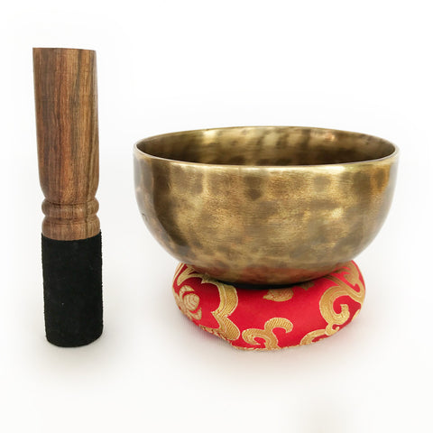 Tibetan Full Moon Singing Bowl and mallet