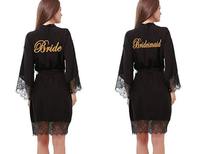 Bride, Bridesmaid and Maid of Honor Robes