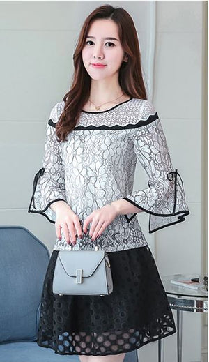 Women Lace Crochet Blouses