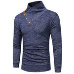 Men Casual Pullovers Solid Color Turtleneck