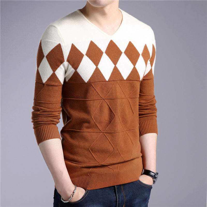 Cashmere Wool Sweater Men