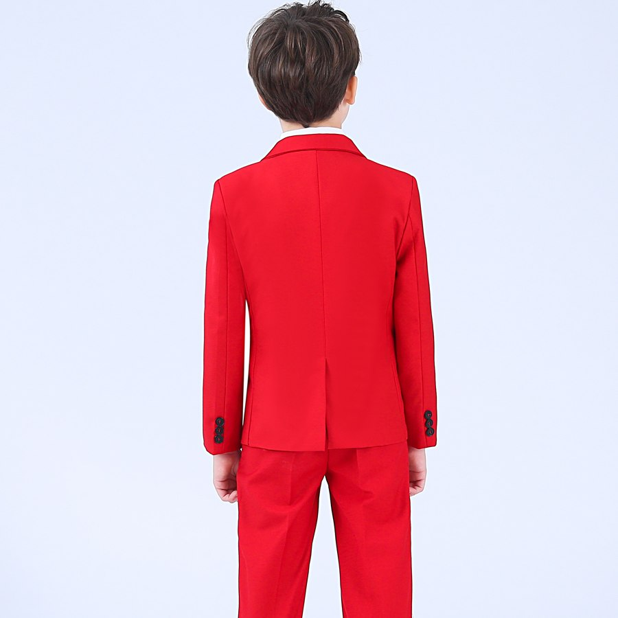 Free Shipping Red Boy Wedding Attire
