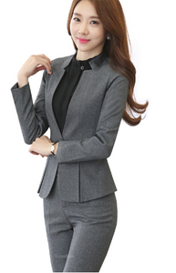 2 piece Gray Pant Suits