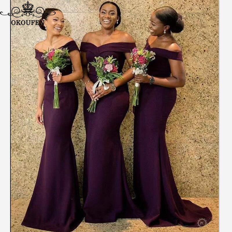 Off Shoulder Bridesmaid Dresses