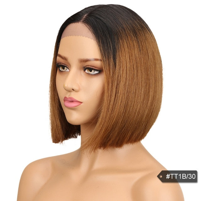 Sleek Human Hair Lace Wigs