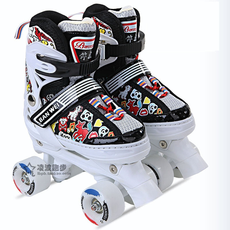 Colorful Kid's Double Line Skates