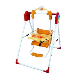 Metal Pipe Folding Baby Swing with Music