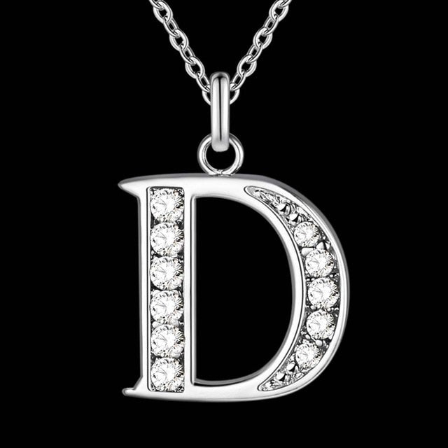 Letter A-S  silver plated Necklace