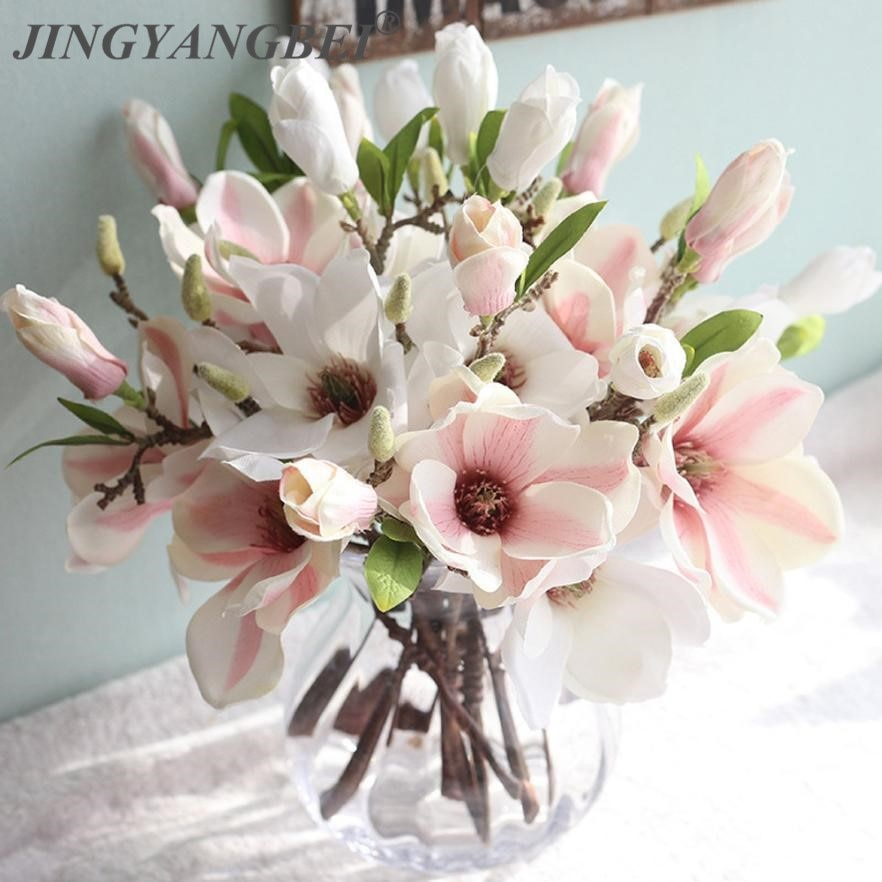 Orchid magnolia wedding artificial flowers for home decoration