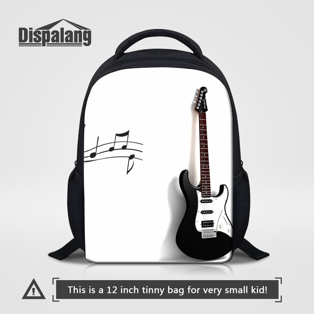 Violin Printed Kids School Bags Music