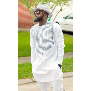 African Men  Long Sleeves Round Neck Fashion Dashiki