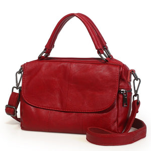 Real High Quality Soft Genuine Leather Women Handbag