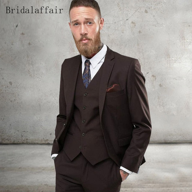 Bridal Affair Black Formal Men Suit