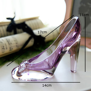 Crystal shoes glass slipper