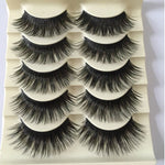 5 Pairs Fashion Natural Make up Long Cross Lashes